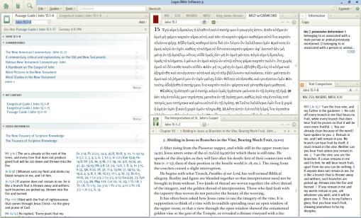 Greek text study Layout.